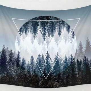 北歐風臥室客廳掛布掛毯壁毯背景牆沙發巾桌布沙灘巾