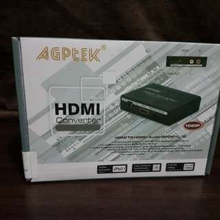 Agptek HDMI to HDMI+Audio (Spdif + RCA L/R Stereo Audio Extractor Converter