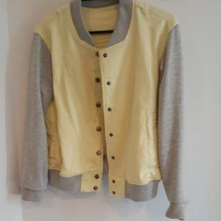 Pastel Yellow Japanese Bomber Jacket