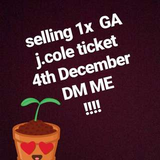 J.Cole Ticket Sydney for 4th DEC