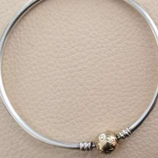 Pandora two Tone 21cm bangle