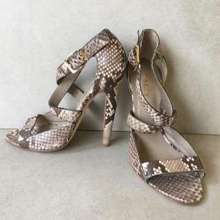 Reduced price... authentic Bally Snake skin shoes