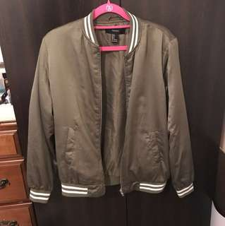 FOREVER 21 - army green boomer jacket
