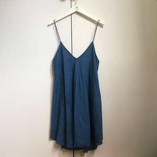 SHAKUHACHI Denim Cami Slip Dress 6-8