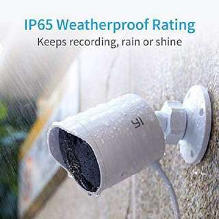 YI Outdoor Security Camera, Cloud Cam Wireless IP Waterproof Night Vision Security Surveillance System