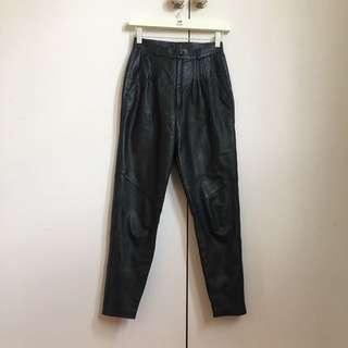 GENUINE LEATHER Black Vintage Pants 6
