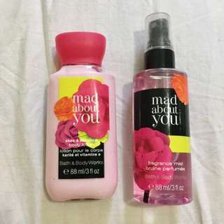 Mad About You Body Lotion And Parfume