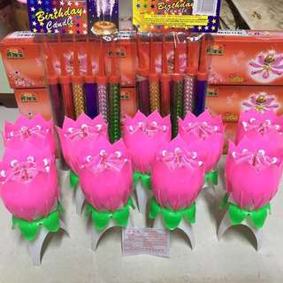 Birthday * Rotating lotus candle /firework candles/ love cake mould/birthday cake mould