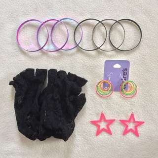 80s Costume Accessories Set