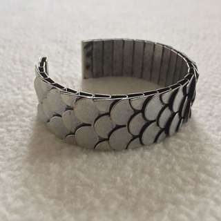 H&M Metal Scale Bangle Bracelet
