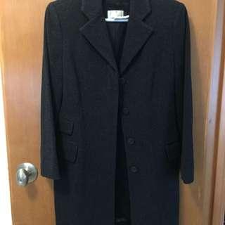 G2000 灰色中褸 60% wool 20% cashmere 20% nylon (Size 7)