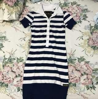 Kamiseta Navy and White Stripes Dress