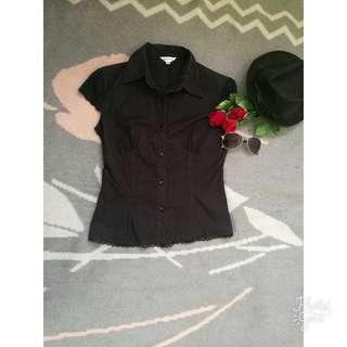 Black Short Sleeves Blouse (small)