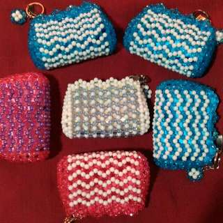 Coin purse made of beads👛