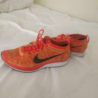 Orange Slice Flyknit Nikes