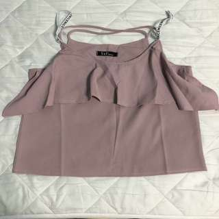 Pink Ruffles Front Top