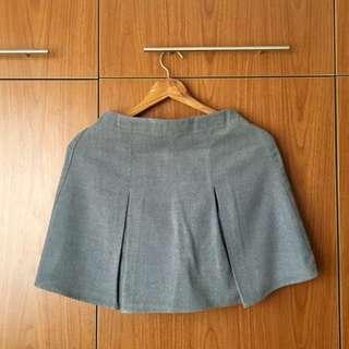 Forever 21 Pleated Grey Skirt (S)
