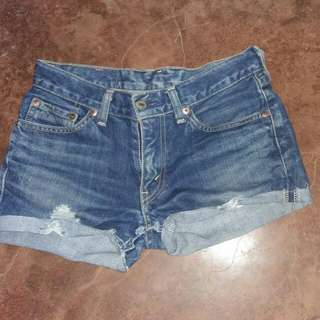 Levis tattered shorts 26""