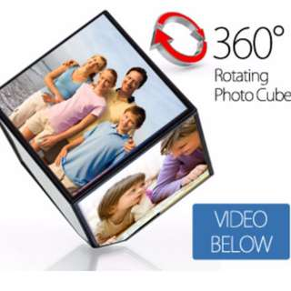 🚚 (全新)Magic Rotating Photo Cube 360度迴旋數位相框