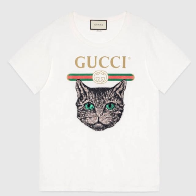 a3ed50eb7cf 100% authentic Gucci shirt with mystic cat