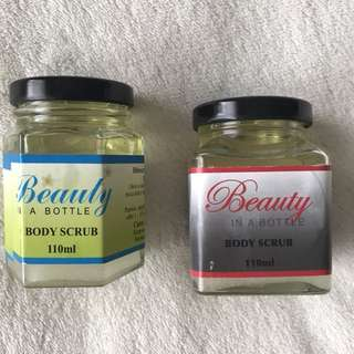 Beauty in a Bottle lemon Myrtle scrub