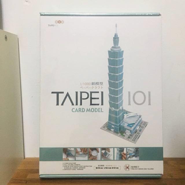 101紙模型 全新未拆封 原價600元