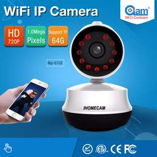 WIFI Home Security Camera IP HD 720P Wireless Surveillance CCTV Camera With Night Vision
