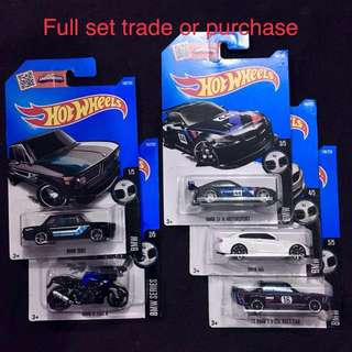 Hotwheels 5 Pc Complete Set Hot Wheels