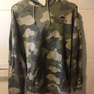 PACSUN army ripped hoodie