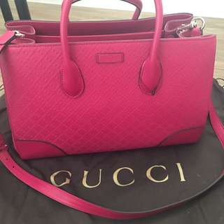 100% authentic pink diamante leather Gucci bag