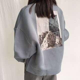 預購太空棉背面印花衛衣