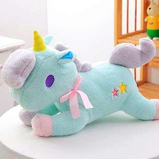 Unicorn Plushie (pastel blue)