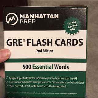 GRE vocab flashcards