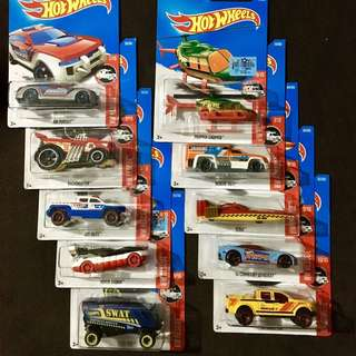 Hotwheels 10 pc Complete Set Hot Wheels