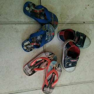 Snickers for lil boy  brand disney n 2 pairs of sliper