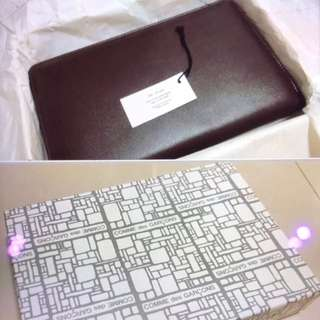BNIB Comme des Garcons Leather Wallet (Burgundy)