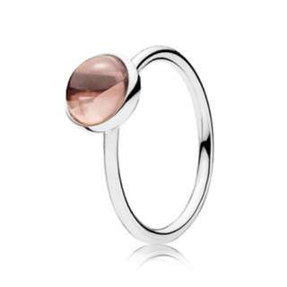 Pandora blush pink poetic ring, size 52
