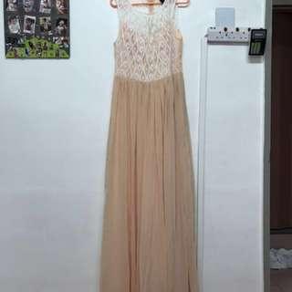 Peach color Dinner Wear Dress