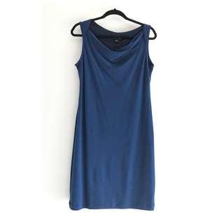Midnight Blue Jersey Cocktail Dress