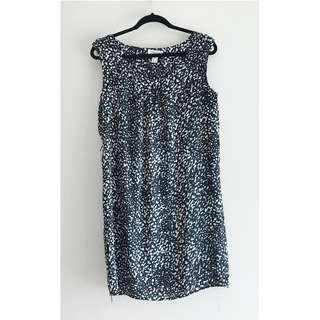 FOREVER 21 Black & White Satin Dress