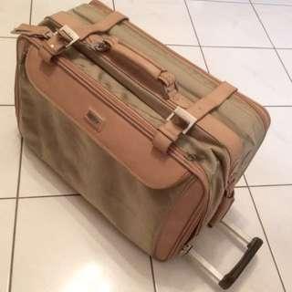 Kaufmann Germany 2 tone heavy duty fabric expandable luggage bag