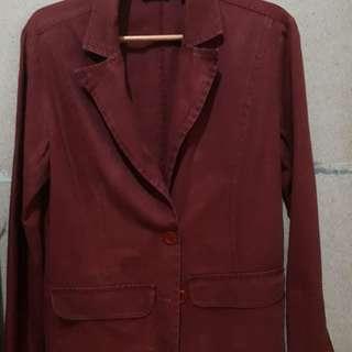 Ladies Maroon Coat