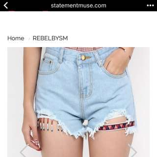 Rebel tease Me Cut Off Denim Shorts