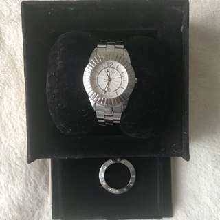 Pandora silver watch with sapphire glass and extra bezel