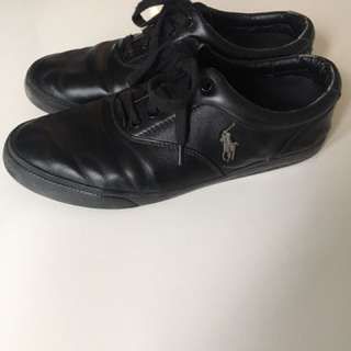 Polo Ralph Lauren black leather shoes