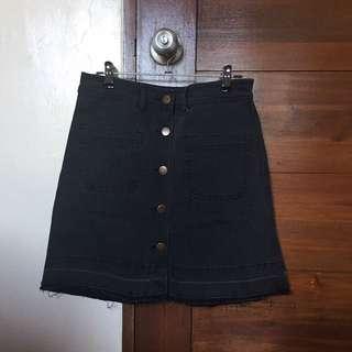 Zalora Black Denim Skirt