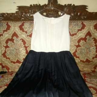 Dress 2 tone navy and white