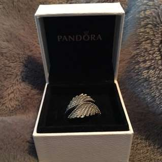 Pandora angel wings ring size 58