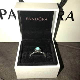 Turquoise Pandora Ring - 56 - Authentic