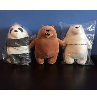 *ON HAND* We Bare bears plush toy soft toy
